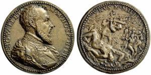 Medalla de Jean Parisot de Valette (1565-1566) - Unus X Millia